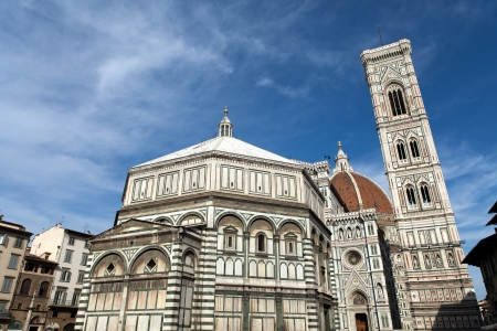campanile: View of the Baptistery, Campanile and Duomo - Florence
