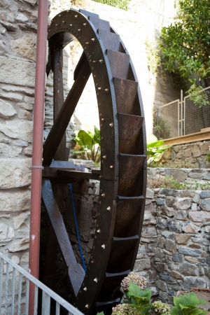 grist mill: The old watermill in Manarola Stock Photo