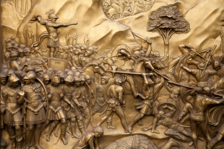 Florence - Baptistery , Panel of the Door of Paradise. David and Goliath