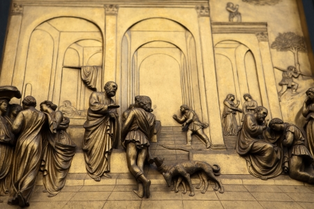 Florence - Baptistery , Panel of the Door of Paradise. Esau and Jacob