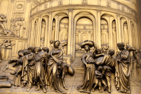 Florence - Baptistery , Panel of the Door of Paradise - Joseph sold into slavery