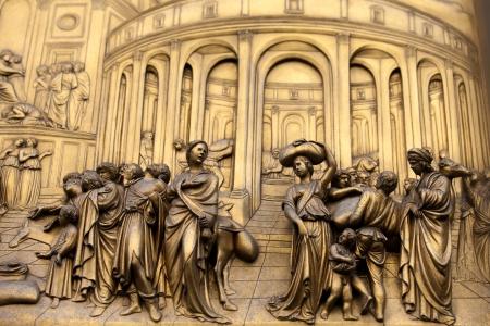 피렌체 - 종탑, 낙원의 문 패널 - 요셉은 노예로 판매