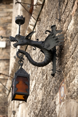 Assisi - old street lamp photo