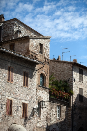 Medieval street in the Italian hill town of Assis