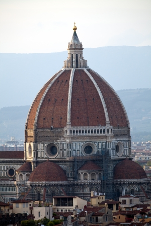 Cathedral of Florence Italy, View from the Michelangelo's Piazza  photo
