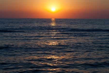 Sunset over the sea  photo
