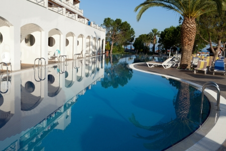 Swimming pool at the modern luxury hotel Stock Photo - 14654403