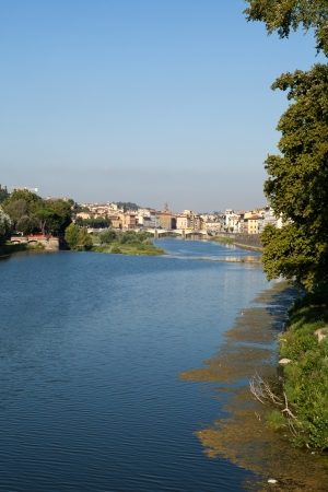 arno: Florence - buildings along the Arno River Stock Photo