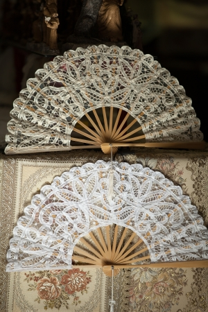 Lace Hand Fans Stock Photo