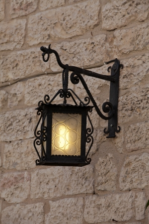 Assisi - old street lamp Stock Photo - 15184055