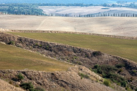 Crete Senesi - The landscape of the  Tuscany. Italy Stock Photo - 15184075