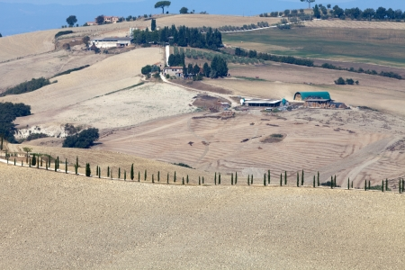 Crete Senesi - The landscape of the  Tuscany. Italy Stock Photo - 15184064