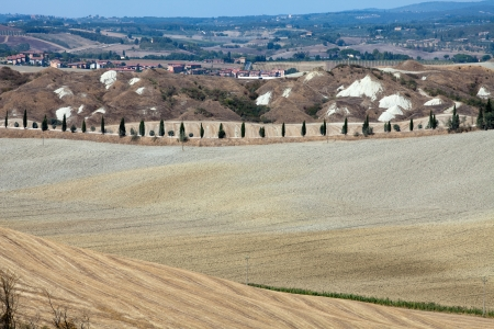 Crete Senesi - The landscape of the  Tuscany. Italy Stock Photo - 14942612