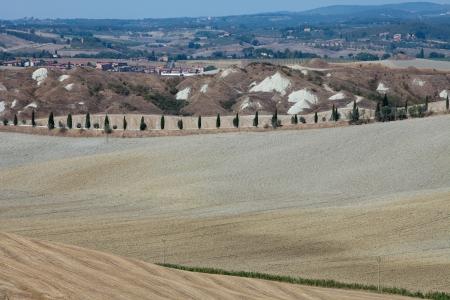 Crete Senesi - The landscape of the  Tuscany. Italy photo