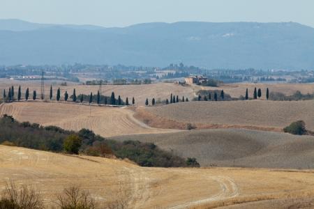 Crete Senesi - The landscape of the  Tuscany. Italy Stock Photo - 15201958