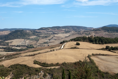 The hills around Pienza and Monticchiello  Tuscany, Italy. Stock Photo - 15201978