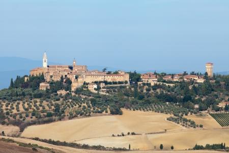 valdorcia: The medieval town of Pienza Stock Photo