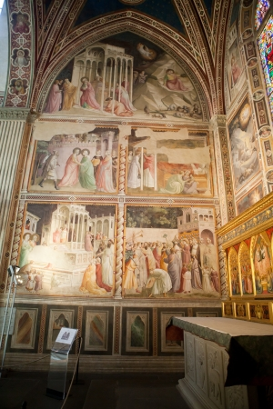 humanist: Florence -  Santa Croce  Frescoes in the Baroncelli Chapel
