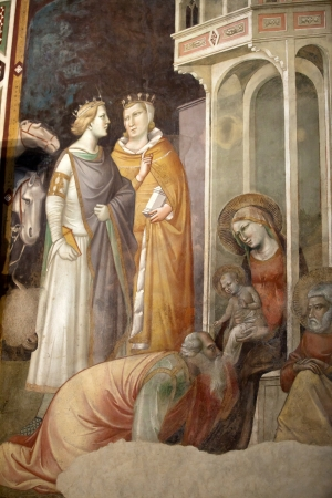 humanist: Florence -  Santa Croce  Frescoes in the Baroncelli Chapel  Life of the Virgin