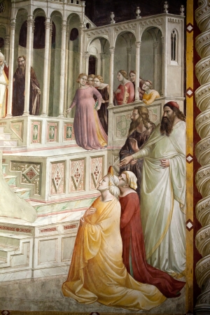Florence -  Santa Croce  Frescoes in the Baroncelli Chapel  Life of the Virgin