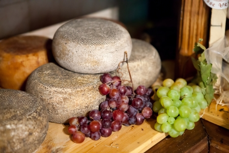 Typical  Tuscany Cheese Pecorino of Pienza 版權商用圖片
