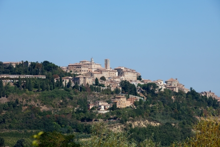 montepulciano: Panoramic View Of Montepulciano ,Tuscany, Italy. Stock Photo