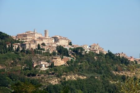 orcia: Panoramic View Of Montepulciano ,Tuscany, Italy. Stock Photo