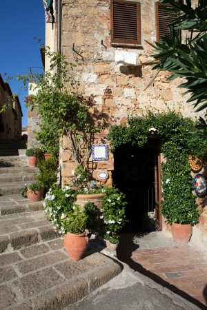 valdorcia: The town of Pienza is a small pearl in the Tuscan countryside Stock Photo