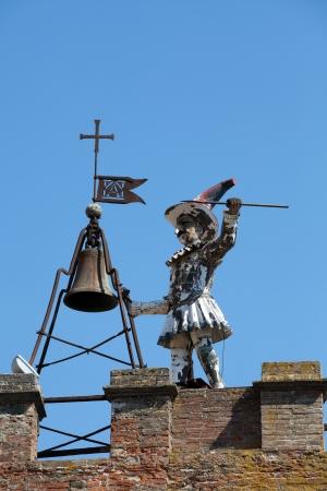 orcia: Torre Della Pulcinella Clocktower, Montepulciano, Italy.