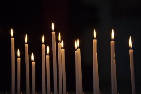 Closeup of votive candles Stock Photo - 15360167