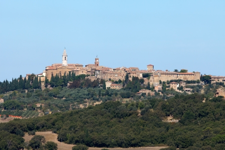 The medieval town of Pienza Stock Photo - 15361080
