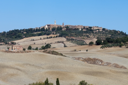 The medieval town of Pienza Stock Photo - 15361131