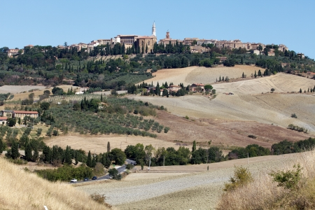 orcia: The medieval town of Pienza Stock Photo
