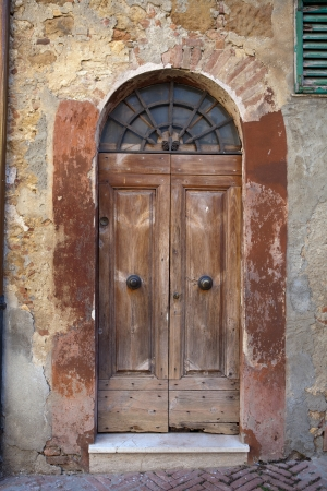 wooden  door in Tuscany. Italy  photo