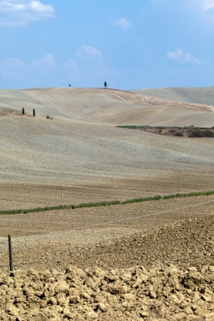 Crete Senesi - The landscape of the  Tuscany. Italy Stock Photo - 15444450