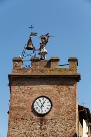 Torre Della Pulcinella Clocktower, Montepulciano, Italy. Stock Photo - 15444518