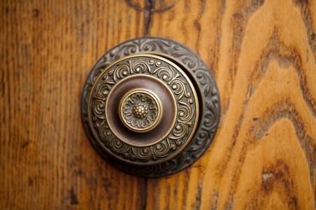 montalcino: An Antique Door Knocker  Stock Photo