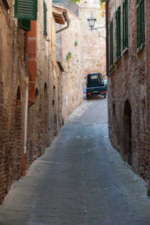 etruscan: morning in the Tuscan town
