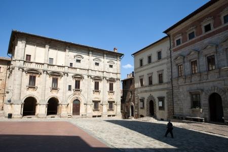 montepulciano:  Palazzo Tarugi in Montepulciano. Tuscany, Italy Stock Photo