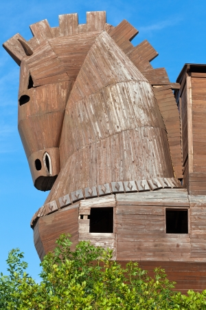 virgil:  Trojan Horse located in Troy, Turkey