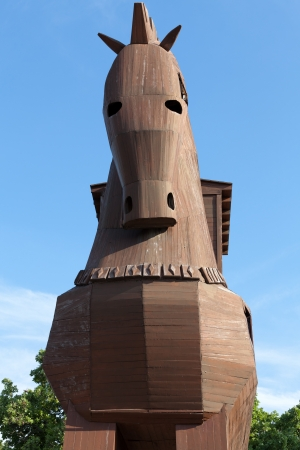 dilapidation:  Trojan Horse located in Troy, Turkey