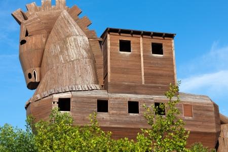 dilapidation:  Trojan Horse located in Troy, Turkey