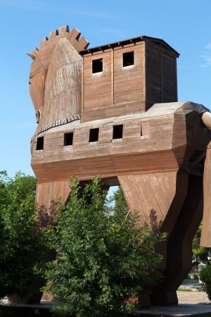 virgil:  Trojan Horse located in Troy, Turkey