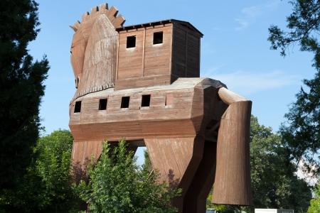 undoing:  Trojan Horse located in Troy, Turkey