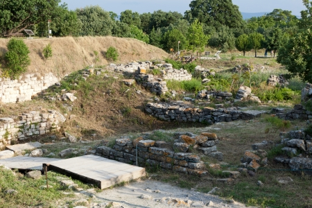 troya: Ancient ruins in Troy.  Turkey