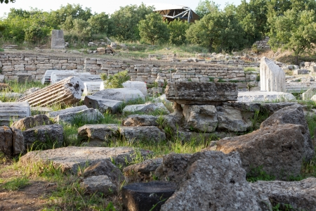 troy: Ancient ruins in Troy.  Turkey