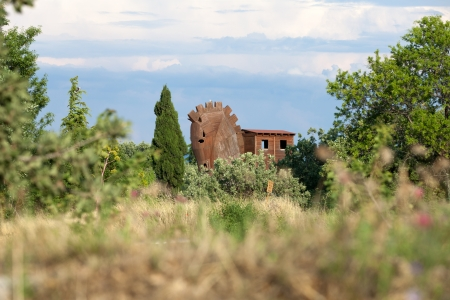ruination:  Trojan Horse located in Troy, Turkey