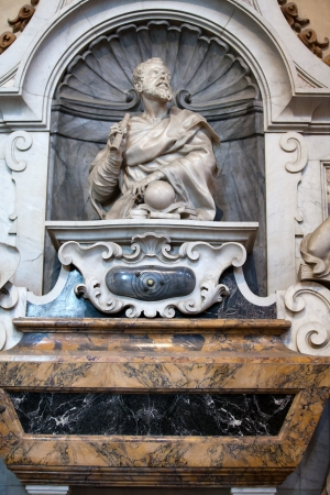 humanist: Florence - Santa Croce  Tomb of Galileo Galilei Editorial