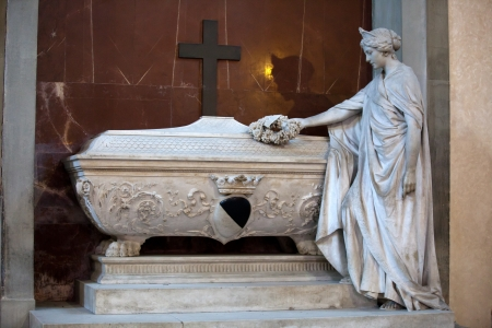 Florence - Santa Croce  Tomb of Gino Capponi Stock Photo - 16425264