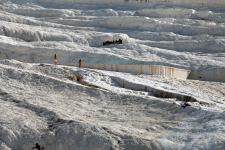 Travertine pools and terraces in Pamukkale Turkey  photo